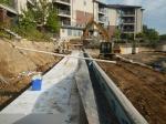 Place foam blocks behind wall to reduce bearingpresure.