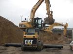 Excavation for watermain.